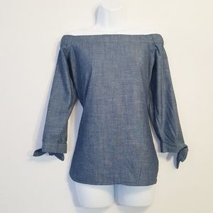 Banana Republic | Off The Shoulder Chambray Top S